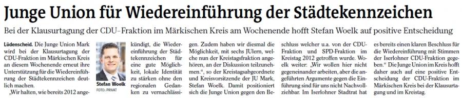 Quelle: Iserlohner Kreisanzeiger am 08.11.2014