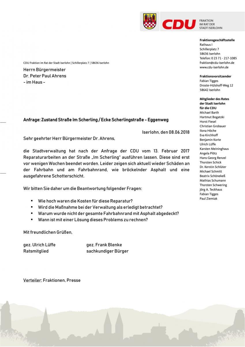 20180608 CDU-Anfrage Zustand Straße Im Scherling-1